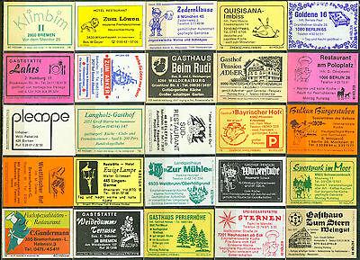 25 alte Gasthaus-Streichholzetiketten aus Deutschland #569