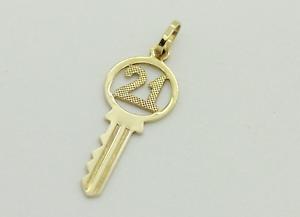 9ct Gold '21st' Key Pendant Mandurah Mandurah Area Preview