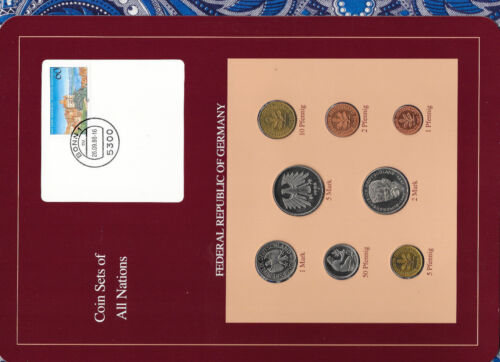 Coin sets of all nations Germany 1987-1989 UNC  5,2 Mark 1988 1 Mark 1989