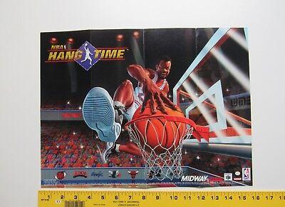 """NBA Hang Time"" Original Poster SNES NINTENDO, usado comprar usado  Enviando para Brazil"