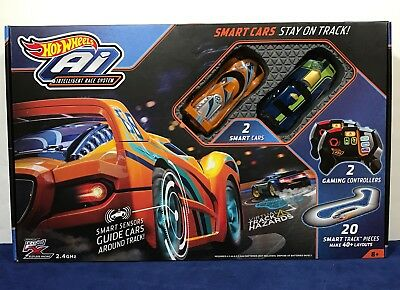 New Hot Wheels Ai Smart Cars   Intelligent Race System 2 Cars   Controllers 2 4