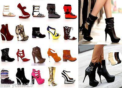 Wholesale Lot 30 Women High Heels Platform Pumps Sandals Boots Shoes 7 to 11