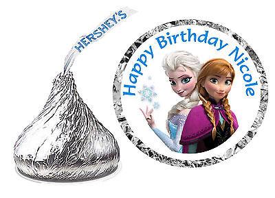 216 DISNEY FROZEN ANNA ELSA BIRTHDAY PARTY FAVORS HERSHEY KISS KISSES LABELS (Frozen Party Favors)