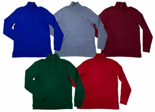 NEW Ralph Lauren Polo Mens Pony 1/2 Half Zip Cotton Sweater FRENCH RIB Shirt
