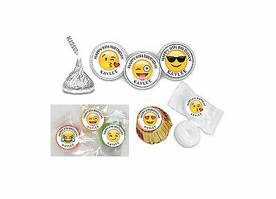 108 Emoji Birthday Hershey Kiss Labels Favors Stickers