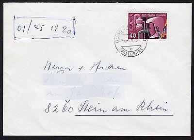 Switzerland: Plain Cover + Safety at Work stamp; Kalchbuehl postmark