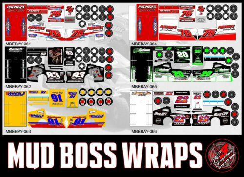 MudBoss Wrap Only for traxxas slash truck salvas body PICK YOUR WRAP Group 2