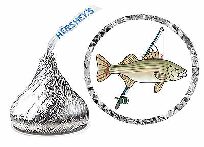 216 FISHING FISHERMAN BIRTHDAY PARTY FAVORS HERSHEY KISS LABELS (Fish Party Favors)