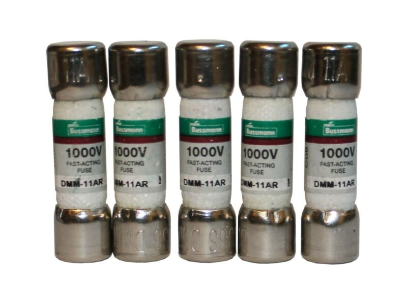 DMM-11AR Fast Acting Fuse Multi-Meter Fuse 11 Amp 1000 Vac/dc (5 Pack)