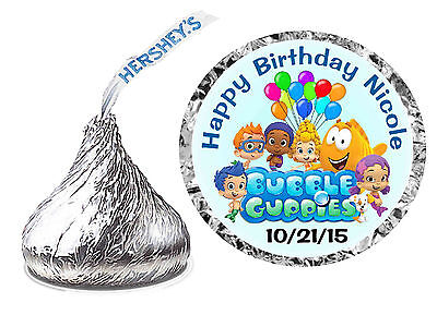 216 BUBBLE GUPPIES BIRTHDAY PARTY FAVORS HERSHEY KISS LABELS ~ envelope seals  - Bubble Guppies Favors