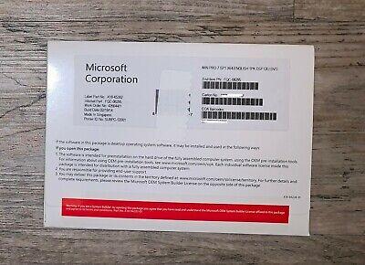 Microsoft Windows 7 Professional SP1 PRO 64Bit Full Version DVD w/ Product