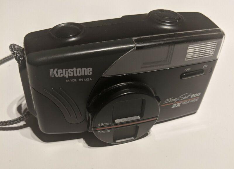 Vintage Keystone EasyShot 600 2x Tele-Wide 35mm Film Camera Tested Working