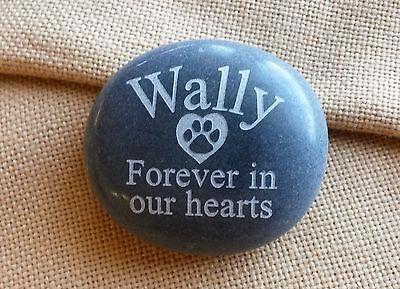 Medium-Personalized Pet Memorial Stone Engraved Dog Memorial Garden Stone Marker