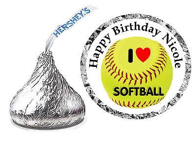 216 SOFTBALL BIRTHDAY PARTY FAVORS HERSHEY KISS KISSES LABELS - Softball Party Favors