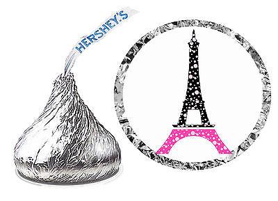 216 PARIS EIFFEL TOWER BIRTHDAY PARTY FAVORS HERSHEY KISS - Paris Party
