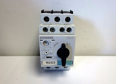 Siemens Motor Starter Protector 3rv1021-1ea15 2.8-4.0a Aux.switch 1no1nc