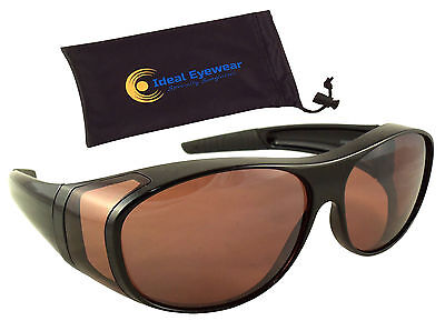 Blue Blocker Blocking Fit Over Sunglasses Wear Over Glasses Driving Mens (Drive Wear Sunglasses)