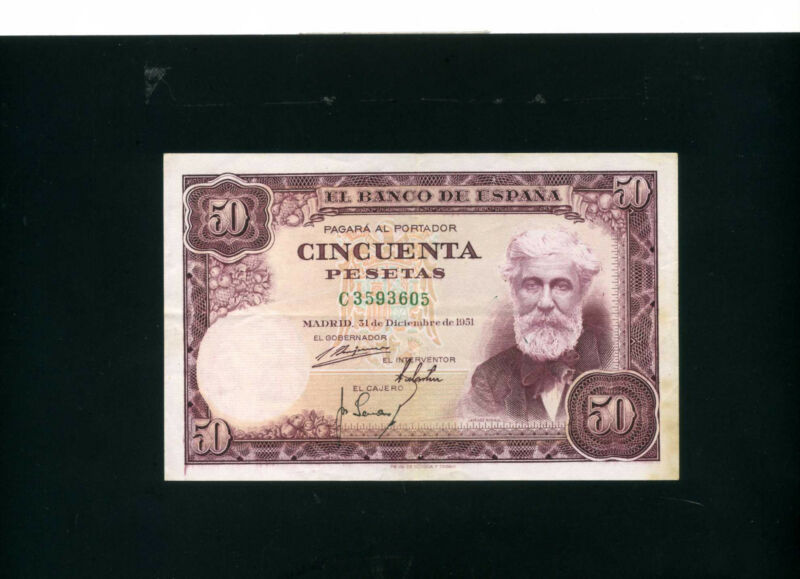 Spain 50 pesetas 1951 - VF++