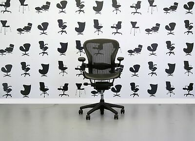 Refurbished Herman Miller Aeron - Size B - Black - With Lumber