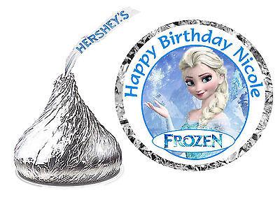 Disney Birthday Parties (108 DISNEY FROZEN ELSA BIRTHDAY PARTY FAVORS HERSHEY KISS KISSES)