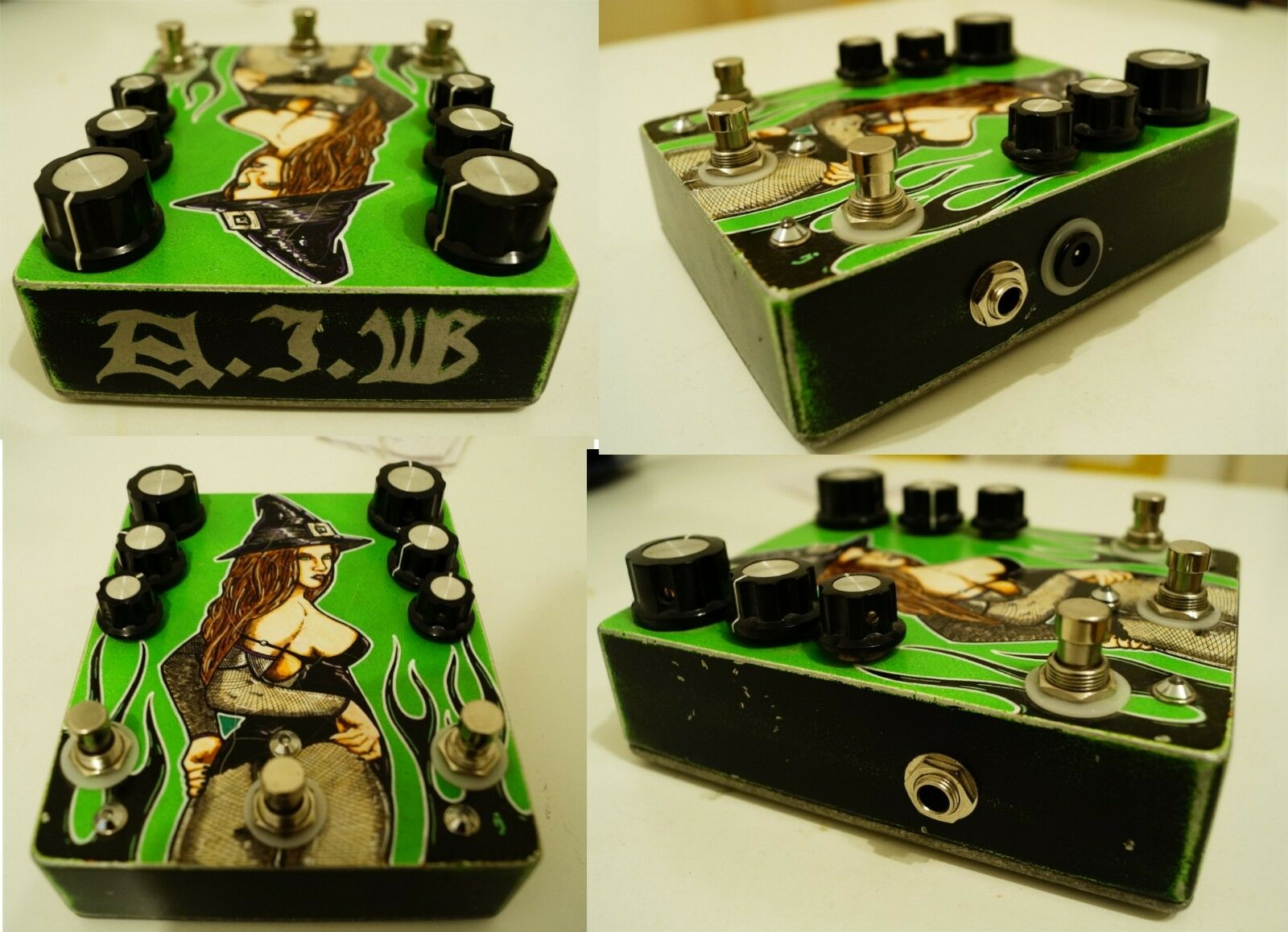 "Arts in Bloodshed Custom 2-Stage Bass Phaser ""Sexy Witch"" ""doom/stoner/psychedel"