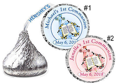 Saints Party (108 FIRST 1st HOLY COMMUNION PARTY FAVORS HERSHEY KISS KISSES)