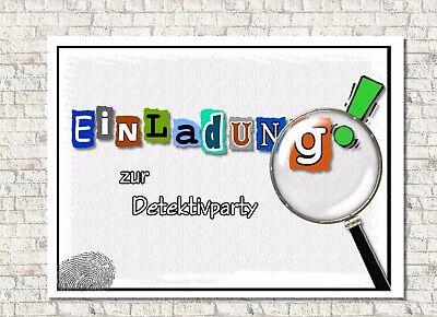 Einladungskarte Kindergeburtstag personalisiert, Detektiv Geheimagent ()