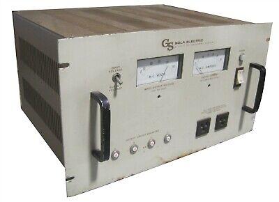 Sola 93-13-220 Constant Voltage Transformer Harmonic Neutralized Type Cvs Gs