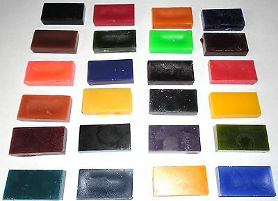 WAX DYE BLOCKS FOR CANDLE MAKING - 6 assorted colours