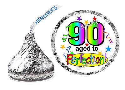 216 ~ 90th BIRTHDAY PARTY FAVORS HERSHEY KISS KISSES LABELS Design #2 - 90th Birthday Party