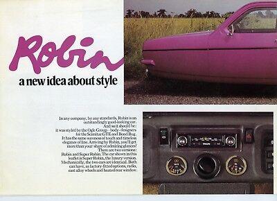 Reliant ROBIN 1970s Sales Brochure SCANNED COPY OF see description