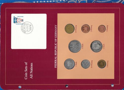 Coin sets of all nations Germany 1950-1992 UNC 10 Pfennig 1950 50 Pfennig 1975