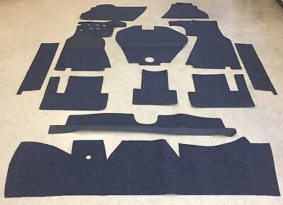 Autoteppich Komplettaustattung für Mercedes 190 SL W121  -63 dkl.blau Schlinge