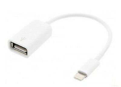 Cable adaptador de datos OTG USB hembra para Apple lightning 8 Pines...