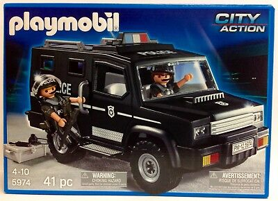 Playmobil 5974 Tactical Unit Police Vehicle  - NEW - 41 pcs