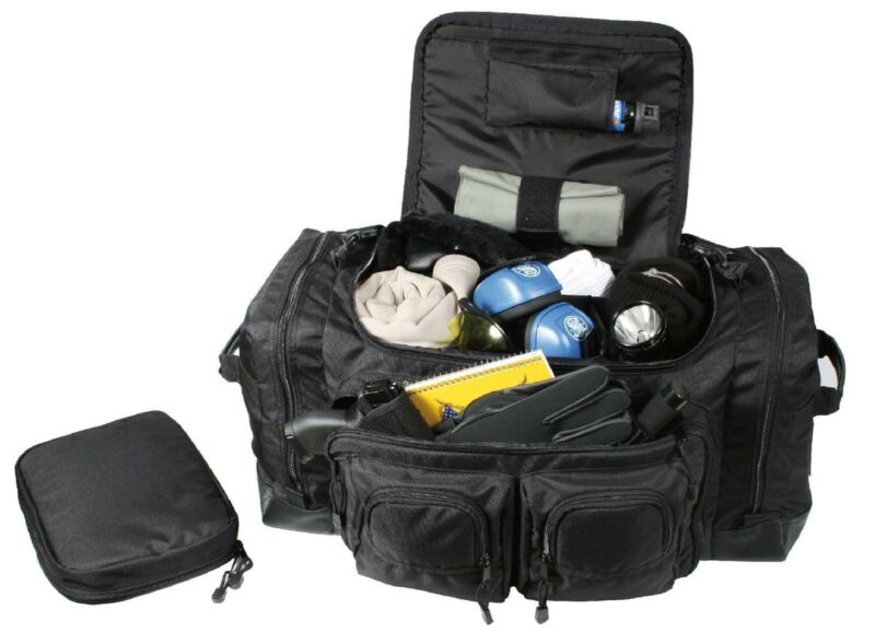 Deluxe Police Law Enforcement Gear Bag - Black Security Equipment Pack Bags