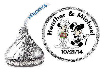 Disney Wedding Favors (216 DISNEY MICKEY AND MINNIE WEDDING FAVORS HERSHEY KISSES KISS)