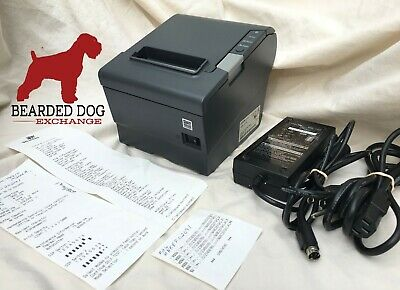 Epson Tm-t88v M244a Usbserial Thermal Receipt Printer Ps-180 Pwr Sup Usb Cable