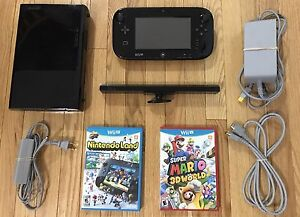 Black 32GB Wii U_W/ Super Mario 3D-World & NintendoLand