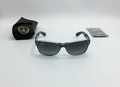 Ray-Ban® NEW WAYFARER Sunglasses RB2132 6143/71 GREY GRADIENT GLASS 52mm - (Ray Ban New Small Wayfarer 52mm Sunglasses)