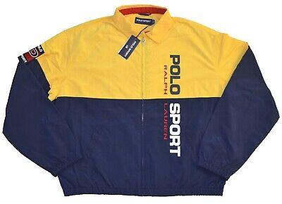 New M L XL Ralph Lauren Polo Sport Windbreaker logo spring Jacket yellow coat