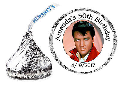 216 ELVIS PRESLEY BIRTHDAY PARTY FAVORS HERSHEY KISS KISSES LABELS - Elvis Presley Party Supplies