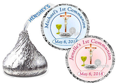 FIRST 1st HOLY COMMUNION PARTY FAVORS HERSHEY KISS KISSES LABELS