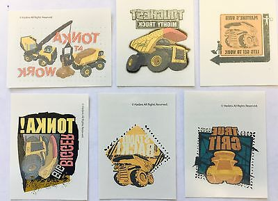 12  Tonka Trucks Vehicle Construction Tattoos Party Supplies Dump Truck  - Tonka Truck Party Supplies