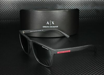 Armani Exchange AX4080S 80786G MATTE BLACK LT GREY MIRROR BLACK Men's (Armani Exchange Shades)