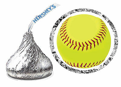 216 SOFTBALL BIRTHDAY PARTY FAVORS HERSHEY KISS LABELS - Softball Party Favors