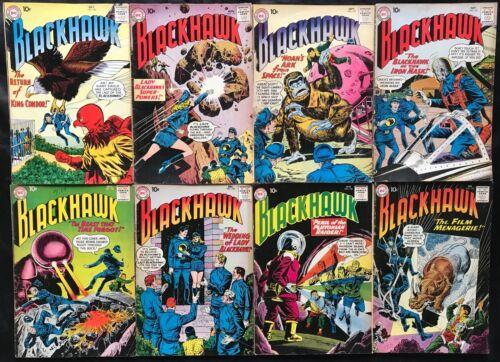 LOT OF 8 BLACKHAWK COMICS (DC,1960/1961) #150-157 SILVER AGE ~