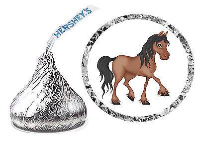 216 HORSE PONY BIRTHDAY PARTY FAVORS HERSHEY KISS LABELS - Pony Birthday Party