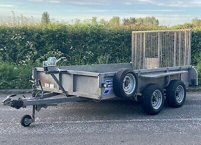 Ifor Williams 3500kg Plant Trailer Twin Axle Braked GD106G Ramp Winch Heavy Duty