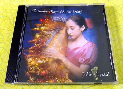 Julie Crystal - Christmas Magic On the Harp ~ Music CD ~ Rare Holiday Songs